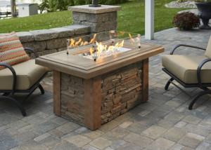 Sierra Linear Gas Fire Pit Table