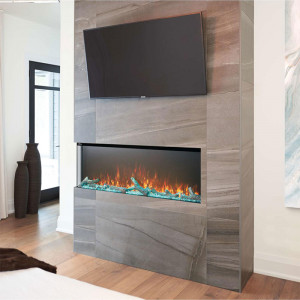 Trivista 3-sided electric fireplace
