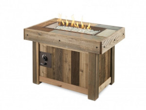 Vintage Rectangular Gas Fire Pit Table