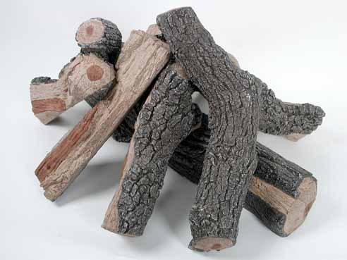 Fire Pit Log Set (Bark/Split)