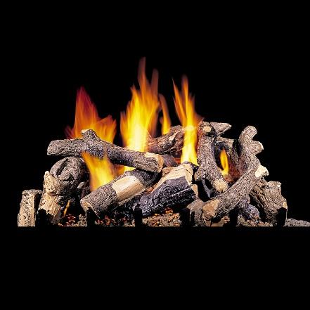 """30"""" Oak Stack (Charred Series) Gas Log"""