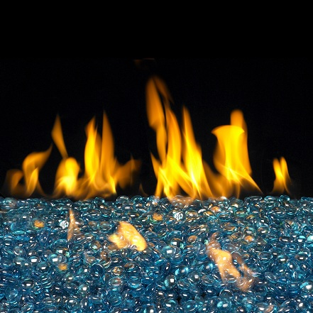 Buy Glass Rocks Online Blue Topaz Gems San Francisco Bay Area Ca The Fireplace Element