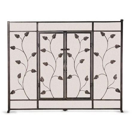 Leaf  Vine Flat Screen With Doors