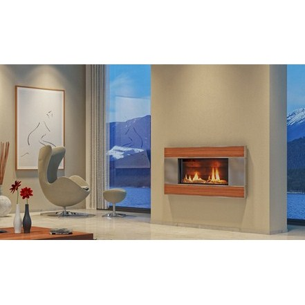 ST900 Gas Fireplace - Ancient Kauri