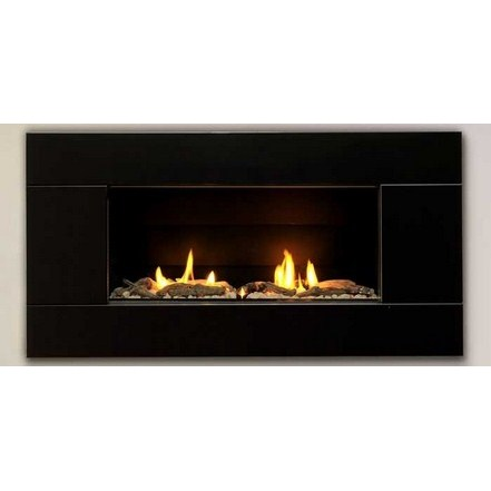 ST900 Gas Fireplace - Satin Black