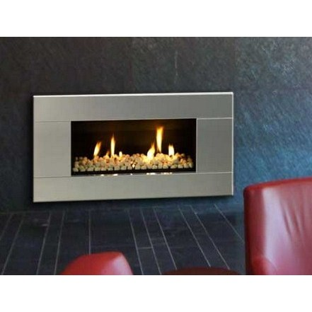 ST900 Gas Fireplace - Stainless Steel