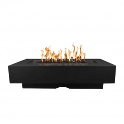 del mar concrete fire pit black