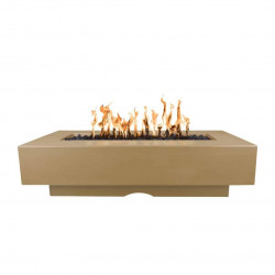 del mar concrete fire pit brown