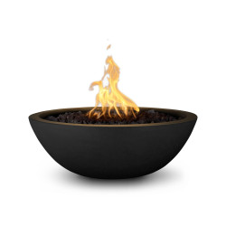 sedona gfrc fire bowl black