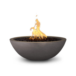 sedona gfrc fire bowl chestnut