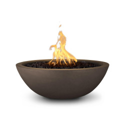 sedona gfrc fire bowl chocolate