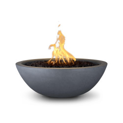 sedona gfrc fire bowl gray