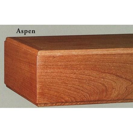 mantel shelf aspen - Wood Mantels
