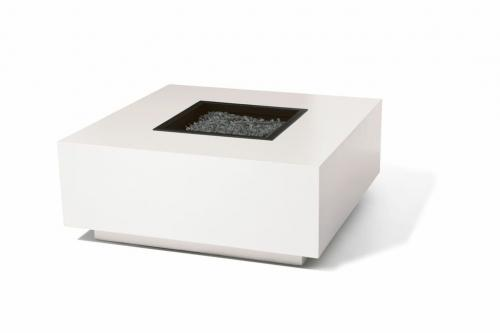 MIAMI- SQUARE-FIREPIT- WHITE