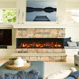 Multi-Sided Electric Fireplace