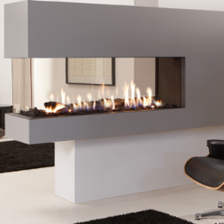 Multi Sided Modern Fireplace In San Francisco Bay Area Ca Mountain View San Jose The